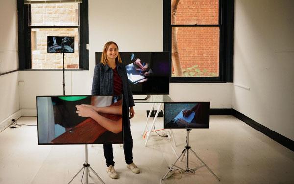Linda Tegg in her studio